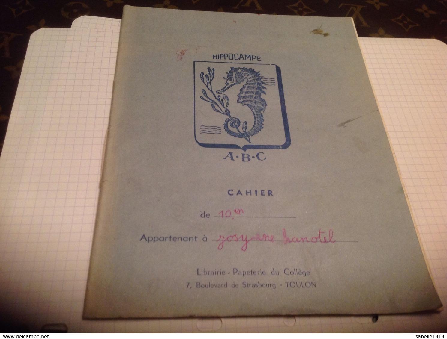 Hippocampe ABC Cahier Librairie Papeterie Du Collège Toulon - Animaux