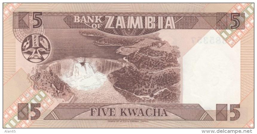 Zambia #25d 5 Kwacha 1986-88 UNC Banknote - Zambia