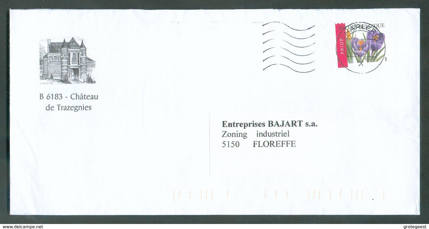 Belgique Lettre Affr. De CHARLEROI 20-6-2003 Vers FLoreffe - Illustrée CHATEAU DE TRAZEGNIES - 12438 - Schlösser U. Burgen
