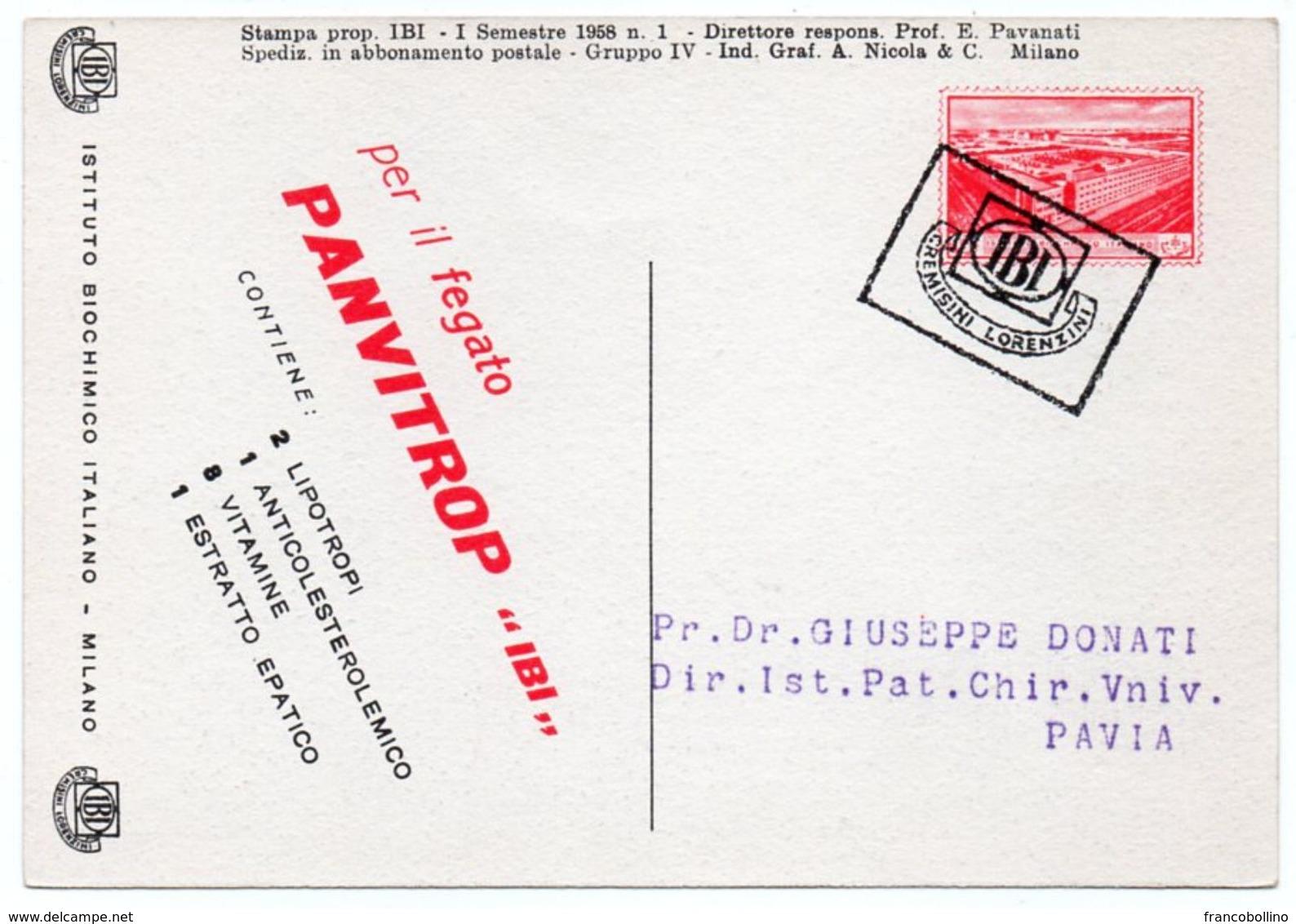 DEAR DOCTOR TYPE PUBL. PANVITROP IBI / MILANO IL DUOMO - Salute