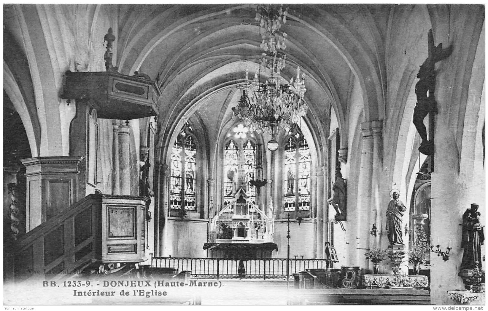 52 - HAUTE MARNE / Donjeux - 521689 - Intérieur De L'église - Frankreich