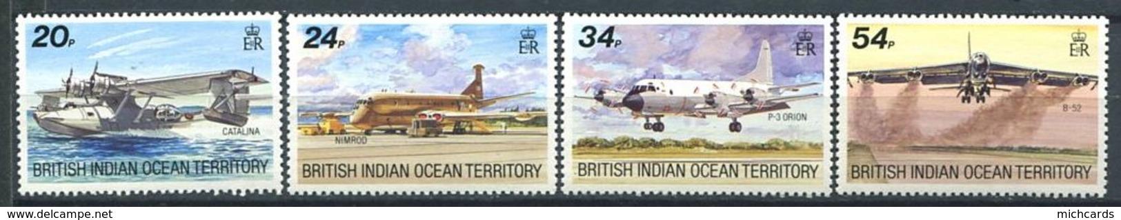 214 OCEAN INDIEN 1992 - Yvert 123/26 - Avion - Neuf ** (MNH) Sans Trace De Charniere - Britisches Territorium Im Indischen Ozean
