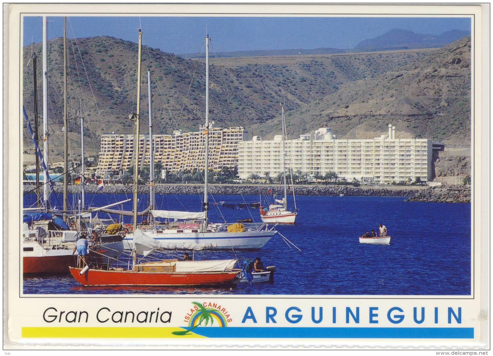 ARGUINEGUIN GRAN CANARIA PANORAMA NICE STAMP BONITO SELLO - Gran Canaria