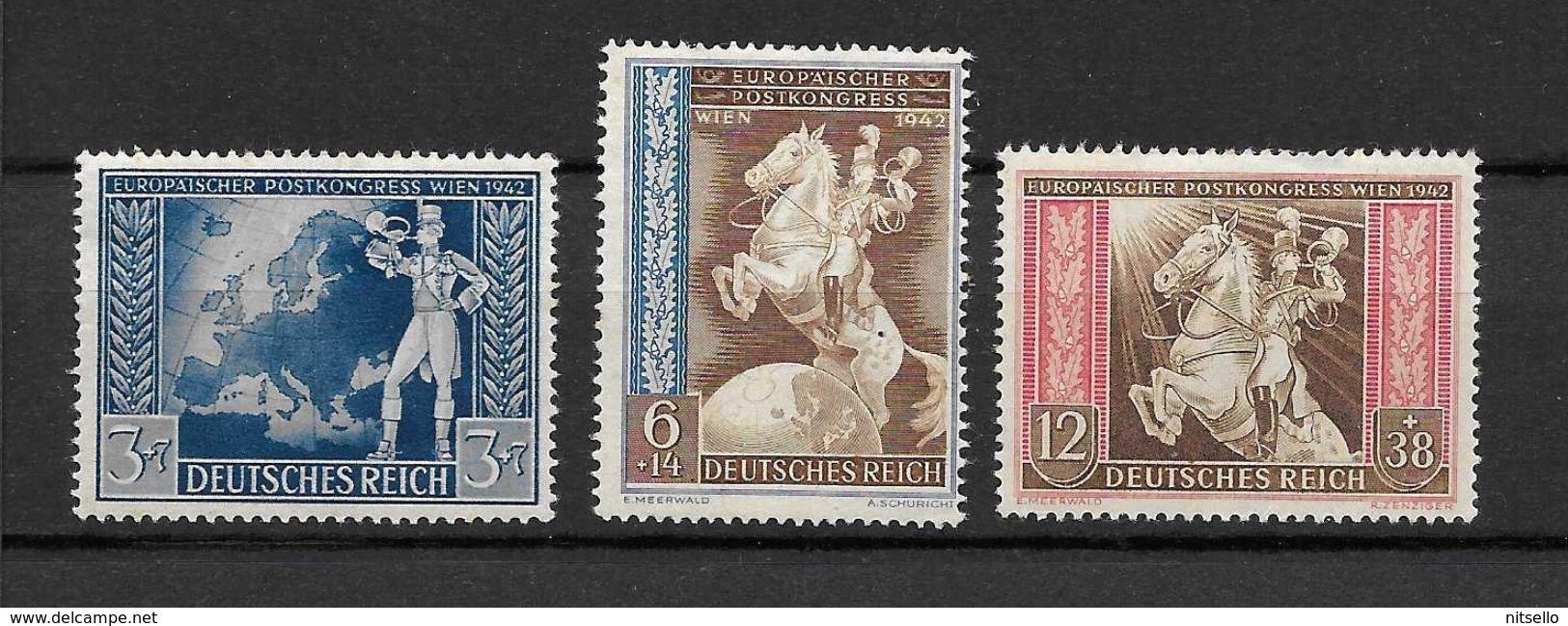 LOTE 1588  ///  ALEMANIA IMPERIO    YVERT Nº: 744/746 *MH - Alemania