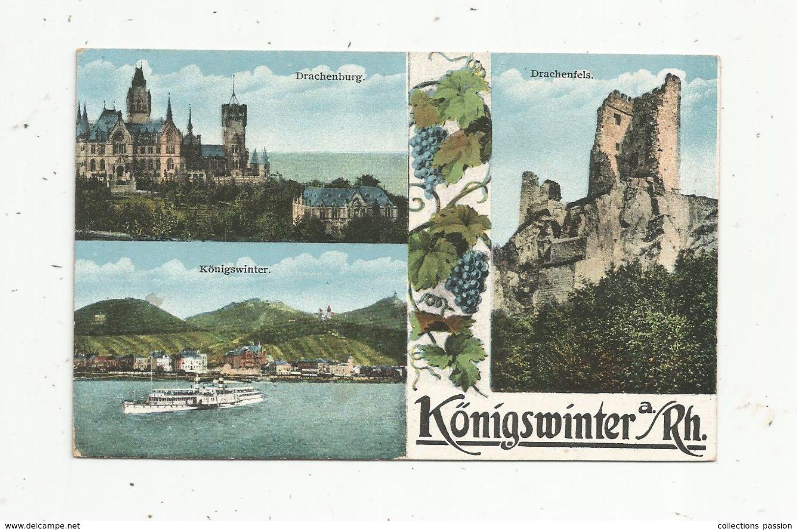 Cp , ALLEMAGNE , KÖNIGSWINTER A/Rh. ,multi Vues, Vierge ,  Ed. W.S.M N° 785 - Koenigswinter