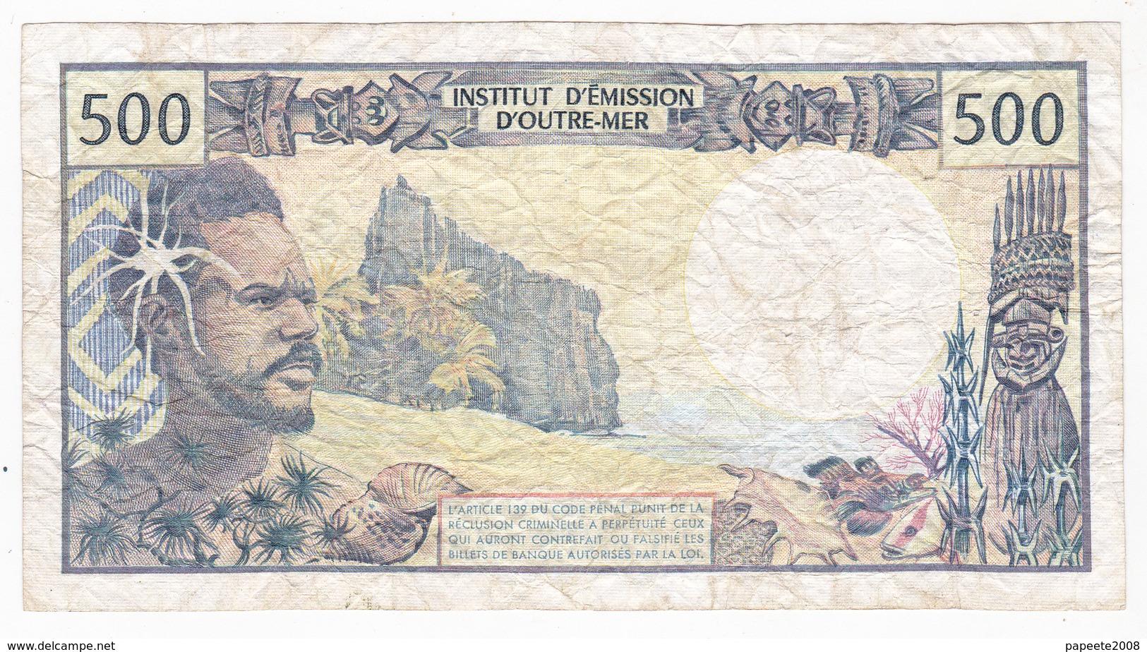 Polynésie Française - 500 FCFP - R. 004 / Philippe Jurgensen / Denis Ferman - Papeete (Polynésie Française 1914-1985)