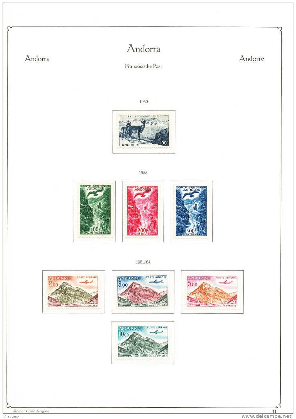 ALBUM  ANDORRA  FRANCESA - DE COLECCIONISTA - OPORTUNIDAD UNICA -1931-2000 - Colecciones