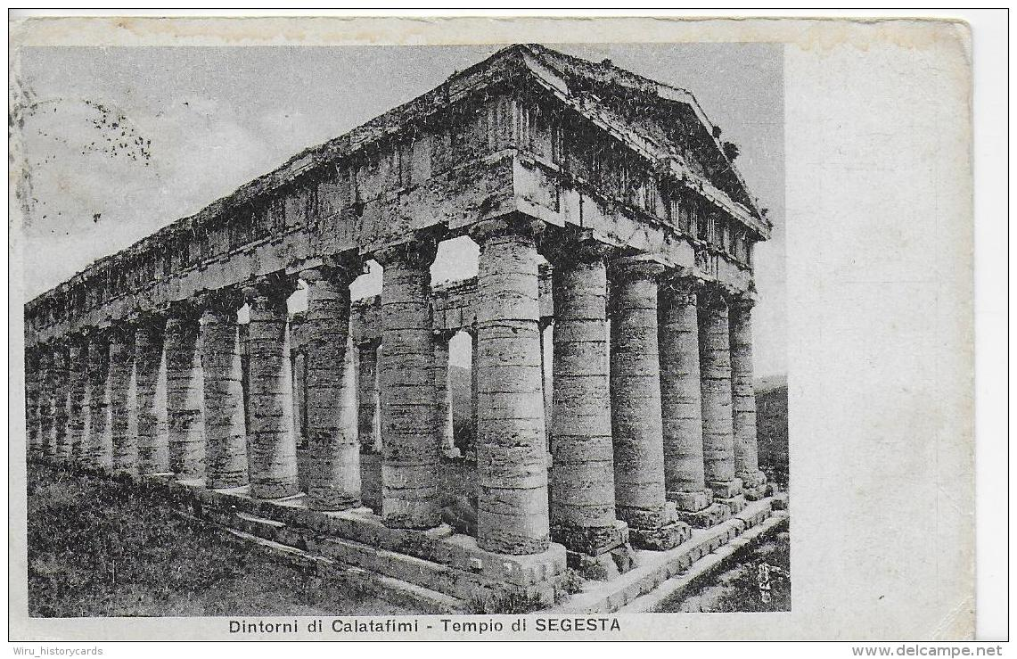 AK 0831  Dintorni Di Calatafimi - Tempio Di Segesta Um 1930 - Trapani