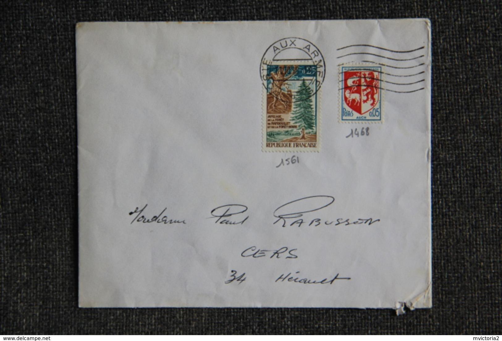 Lettre De FRANCE ( POSTE AUX ARMEES) -  N°1561 Et 1468 - France