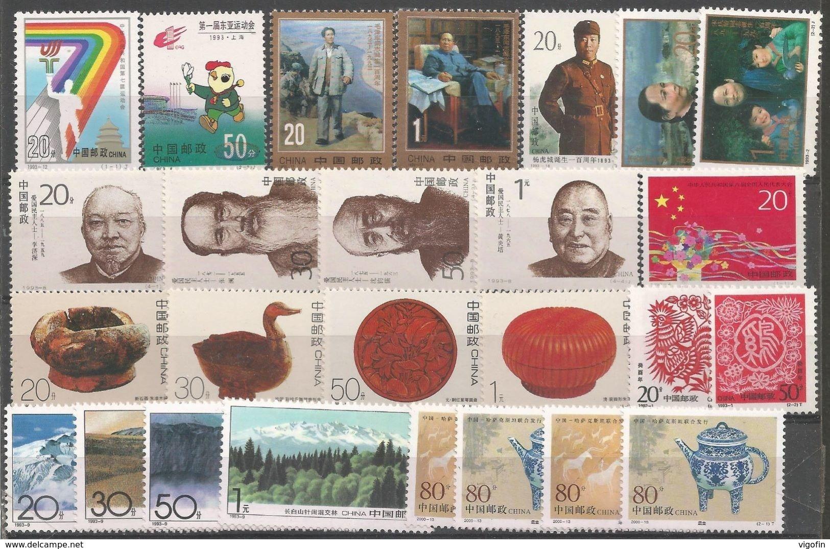 CHINA LOT OF STAMPS MNH - 1949 - ... Volksrepublik