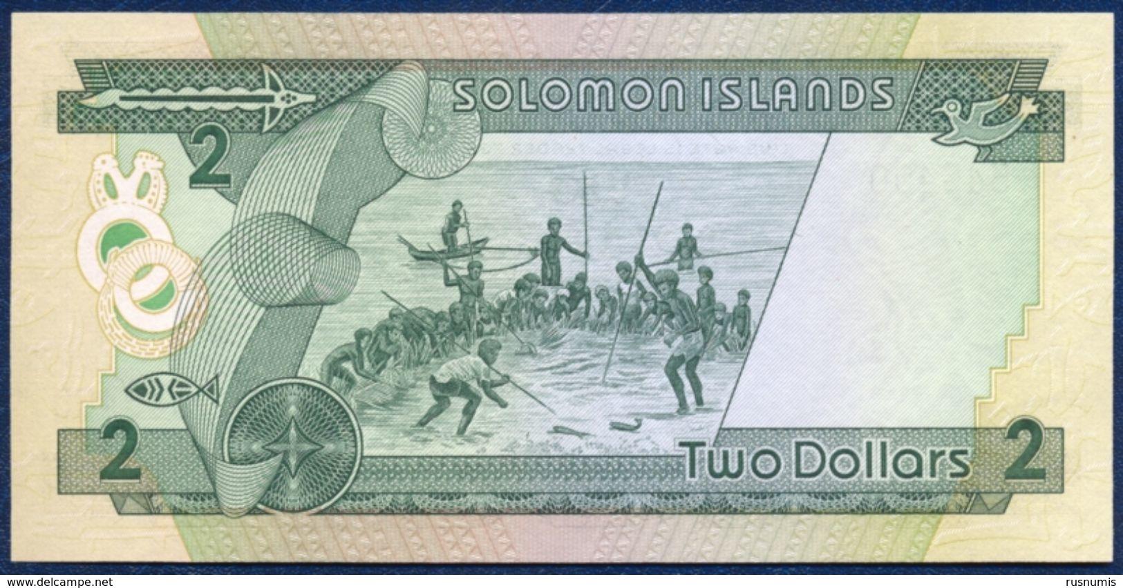 SOLOMON ISLANDS 2 DOLLARS P-13 FISHING 1986 UNC - Solomon Islands