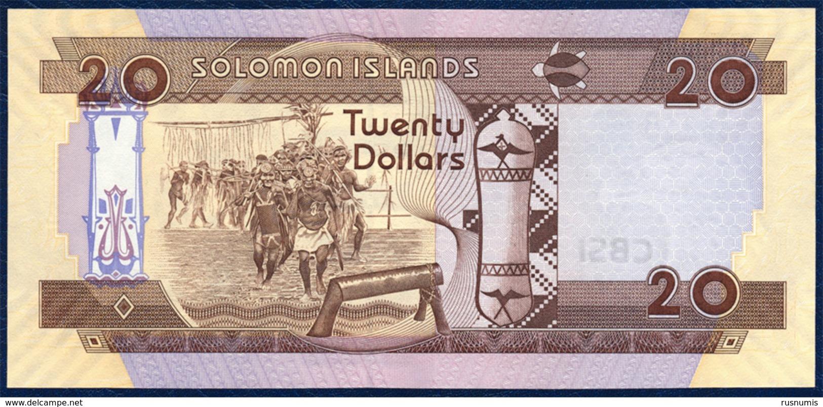 SOLOMON ISLANDS 20 DOLLARS P-28b 2011 UNC - Salomons