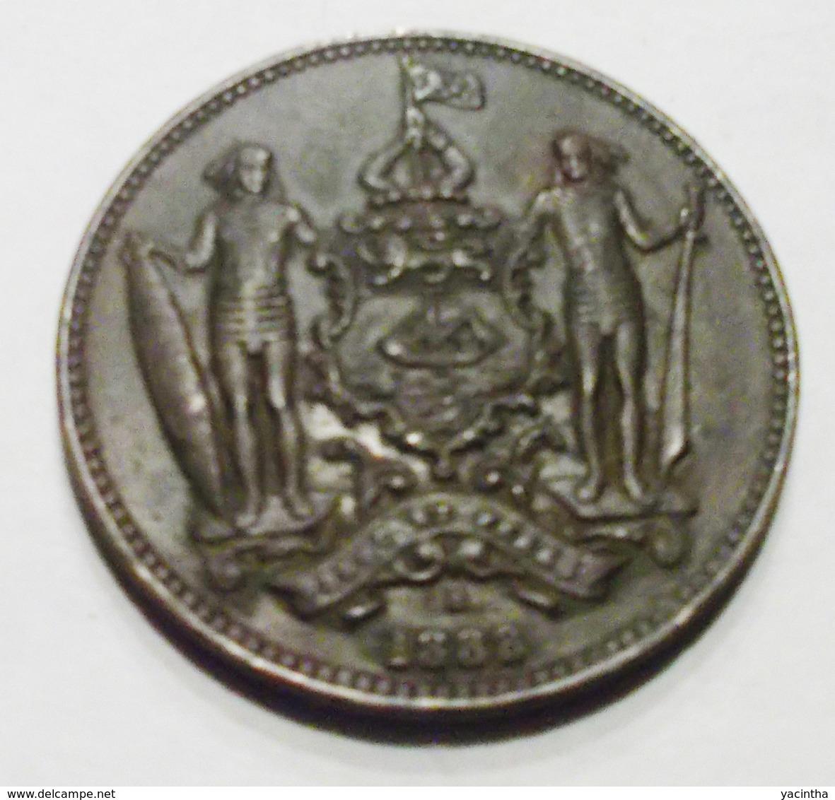@Y@    Brits North Borneo  1 Cent  1888     (2764) - Malasia