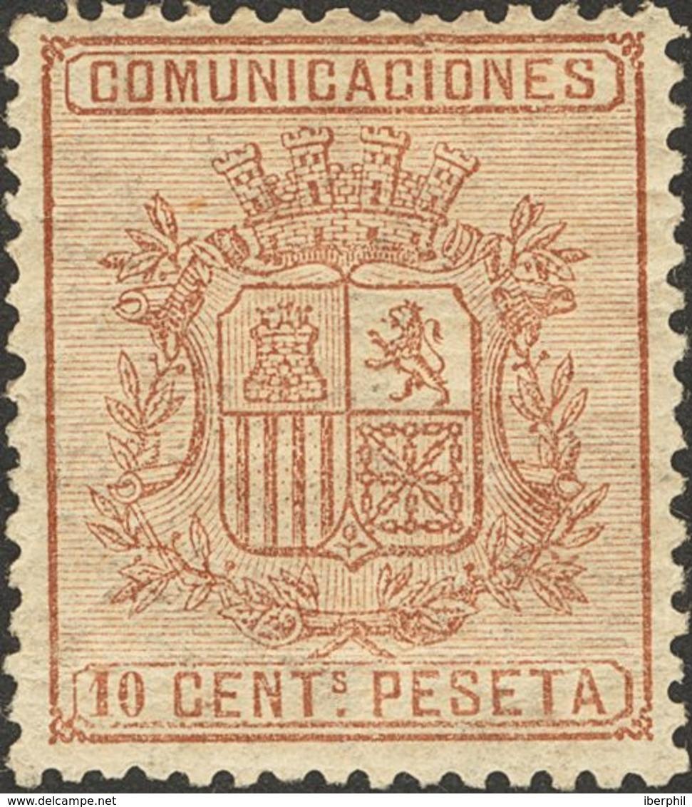 * 10 Cts Castaño. MAGNIFICO. (Edifil 2018: 35€) - Spain