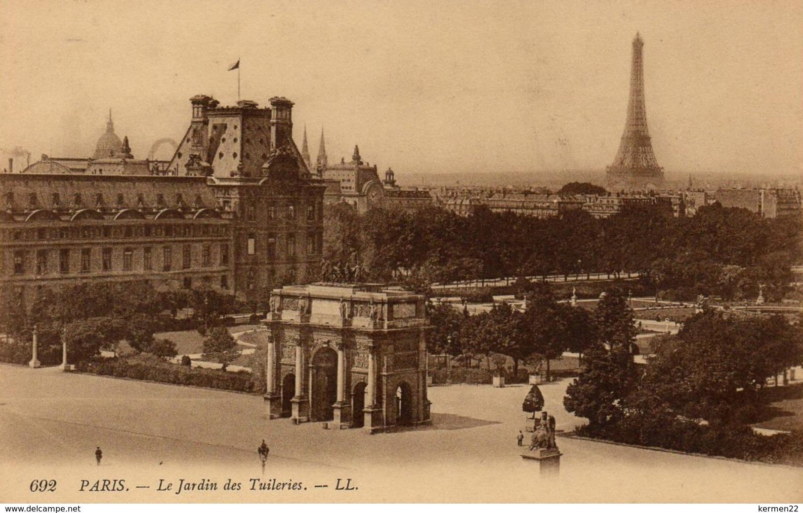 CPA 75 PARIS Le Jardin Des Tuileries - Parques, Jardines