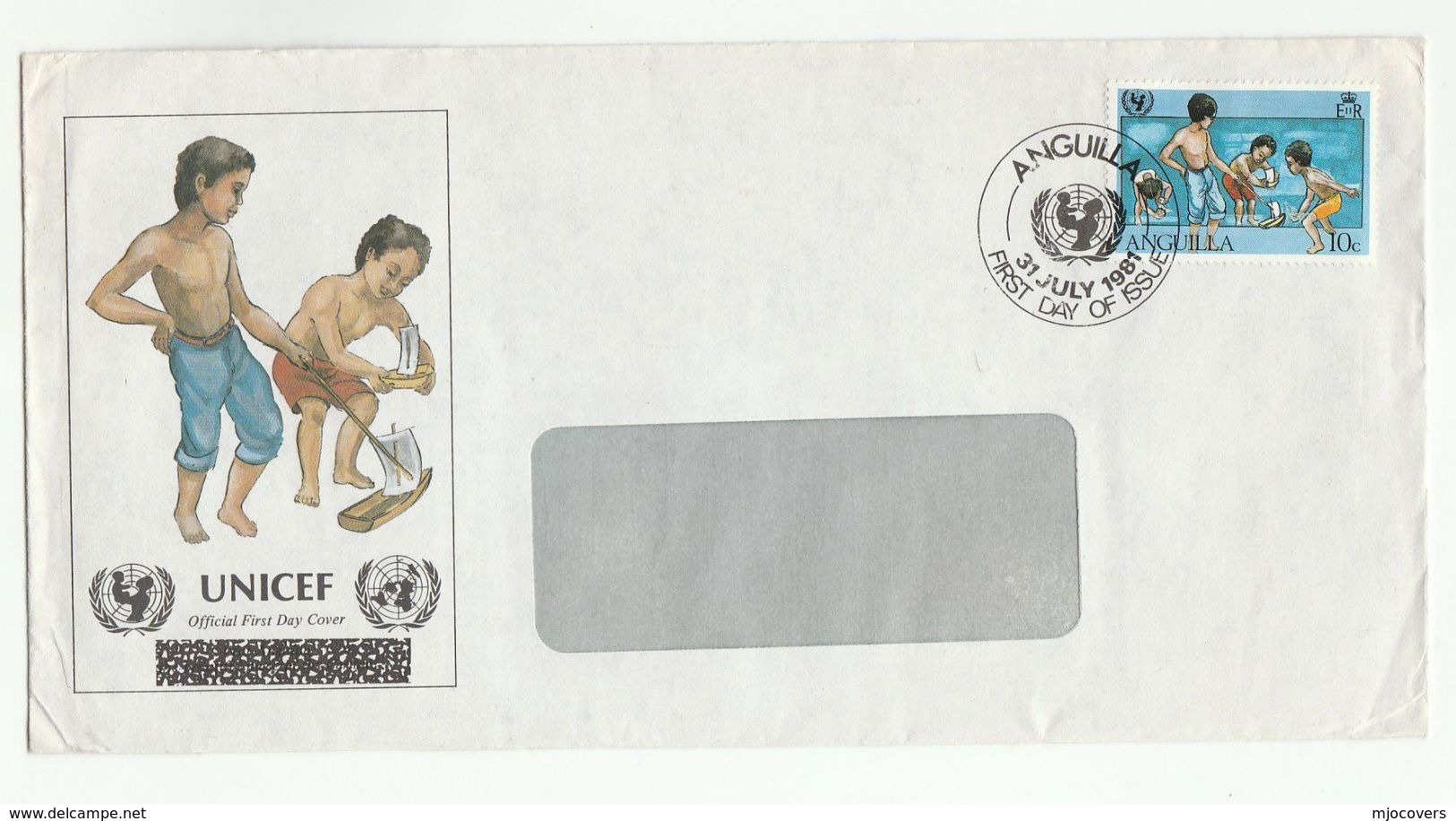 1981 ANGUILLA FDC Stamps UNICEF Un United Nations Cover - UNICEF