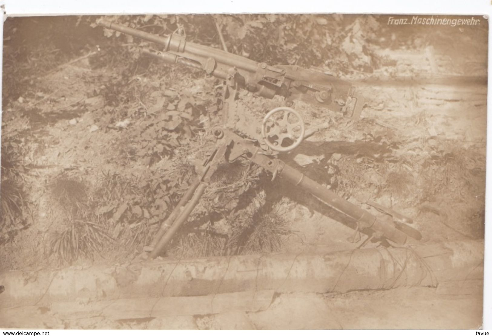 Alte Ansichtskarte Aus Dem WK I -Französisches Maschinengewehr- - Ausrüstung