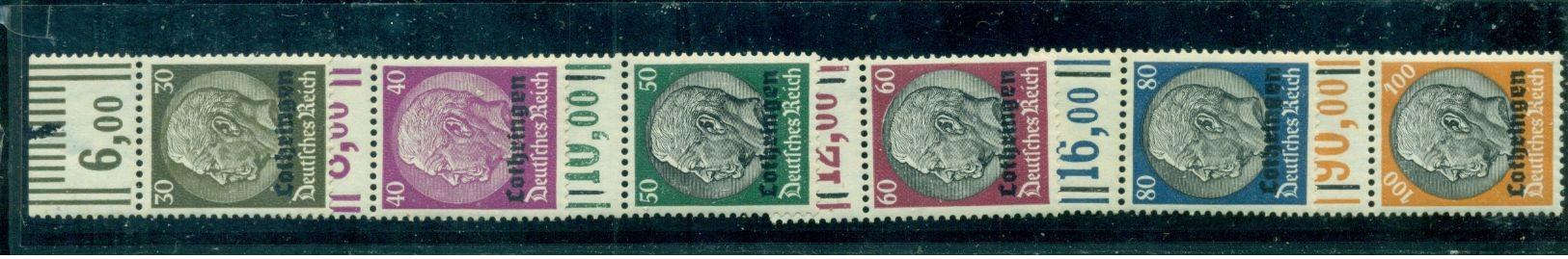 Lothringen Auf Hindenburg, Nr 1 - 16 Postfrisch ** - Besetzungen 1938-45