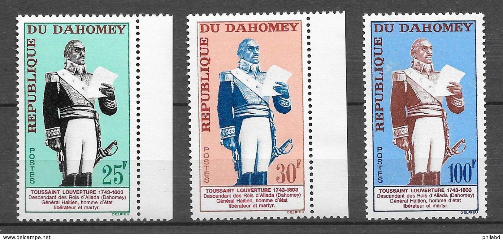 Dahomey N°199 à 201 Toussaint Louverture 1963 ** - Bénin – Dahomey (1960-...)