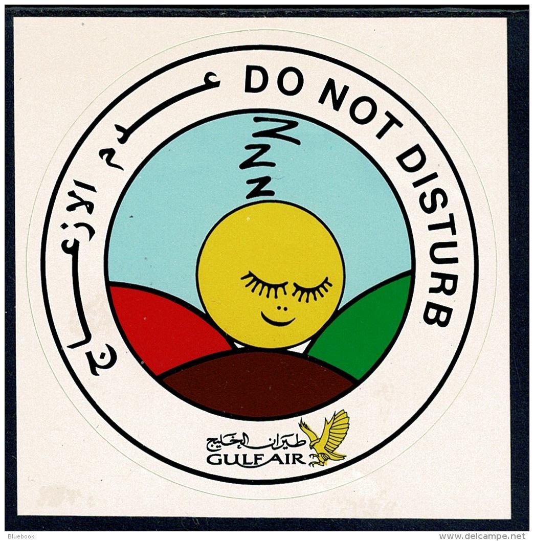 RB 1189 - Bahrain Gulf Air Do Not Disturb Sticker - Aviation Aeronautica Theme - Stickers