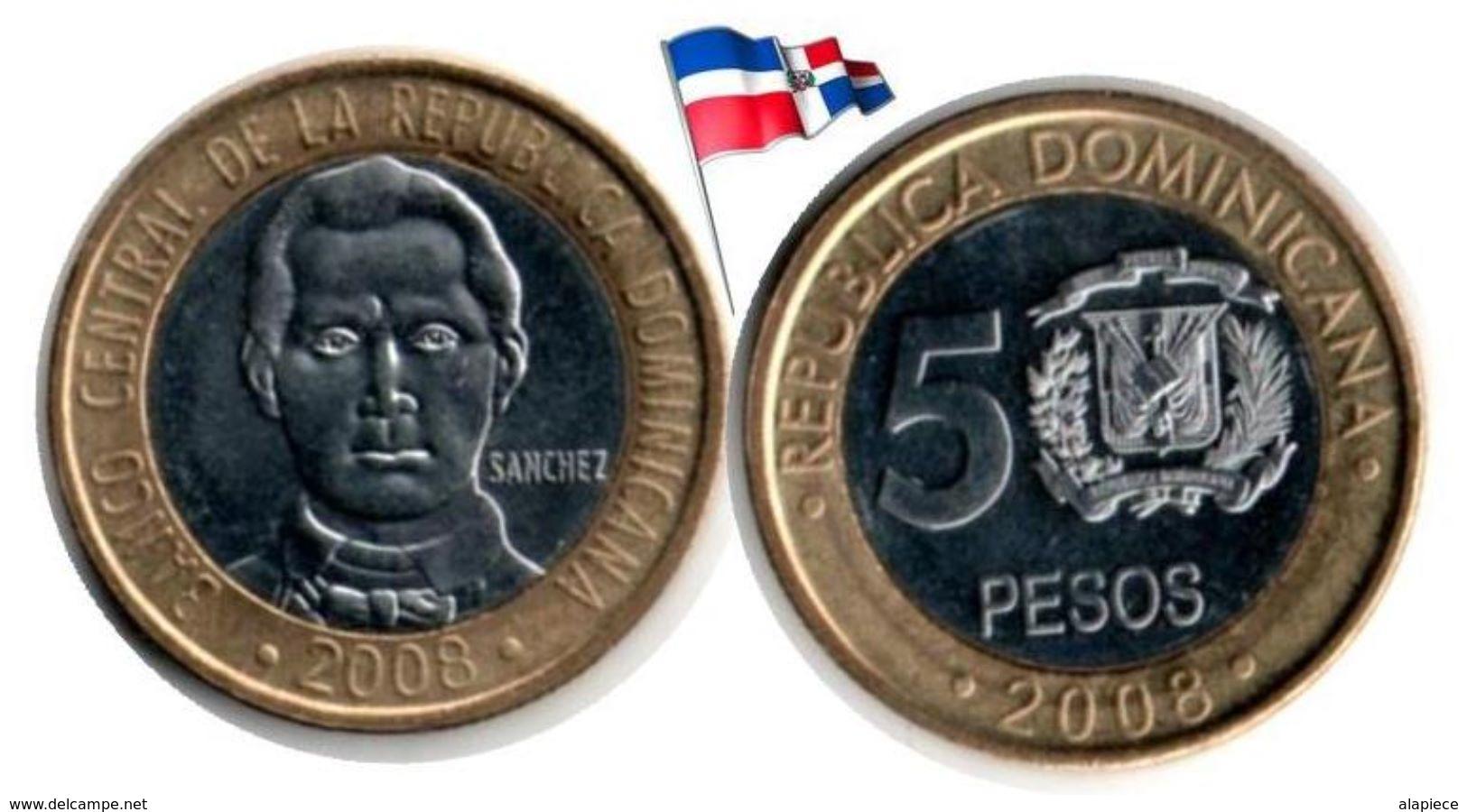 Dominican Republic - 5 Pesos 2008 (UNC) - Dominicana