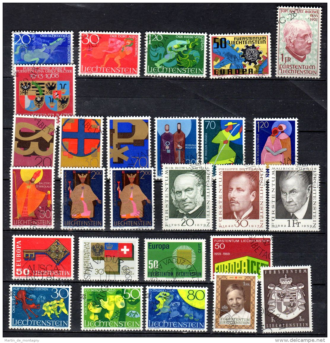Petite Collection Du Timbres Liechtenstein - Selon Scan; Divers YT ; Oblitéré, Lot 49632 - Collections