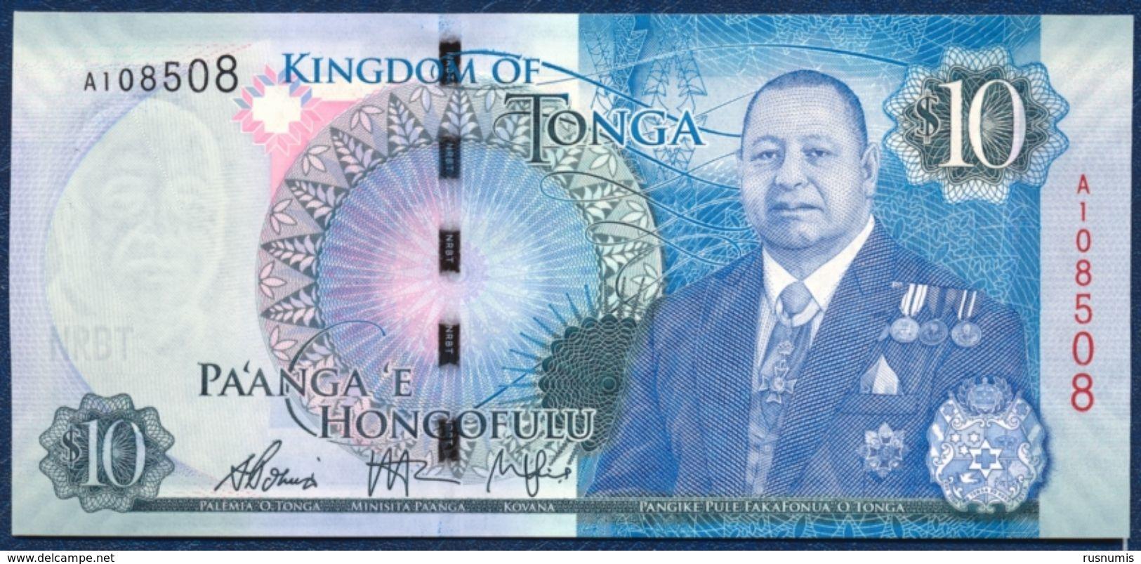 TONGA 10 PA'ANGA PAANGA P-46 2015 UNC - Tonga