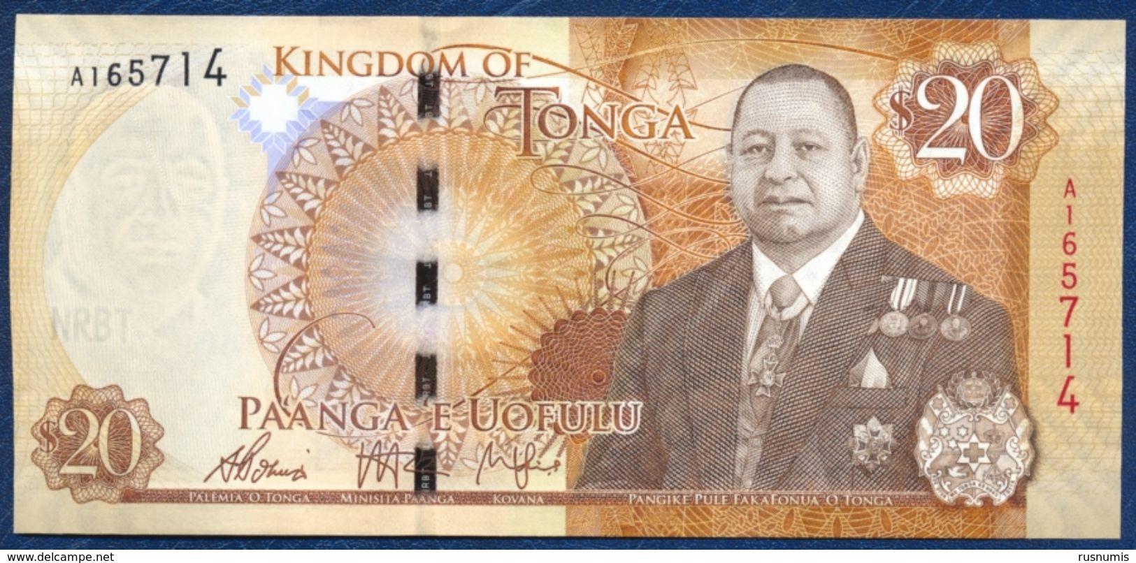 TONGA 20 PA'ANGA PAANGA P-47 2015 UNC - Tonga