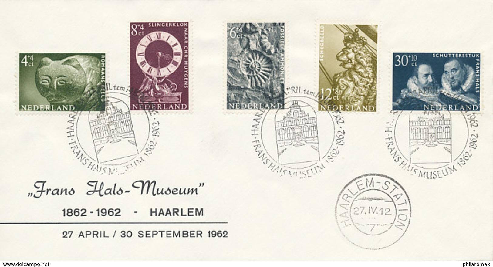 DC-0803 - 1962 NETHERLANDS - FDC ZOMERZEGELS FRANS HALS MUSEUM HAARLEM - STEMPEL FRANS HALS MUSEUM - FDC