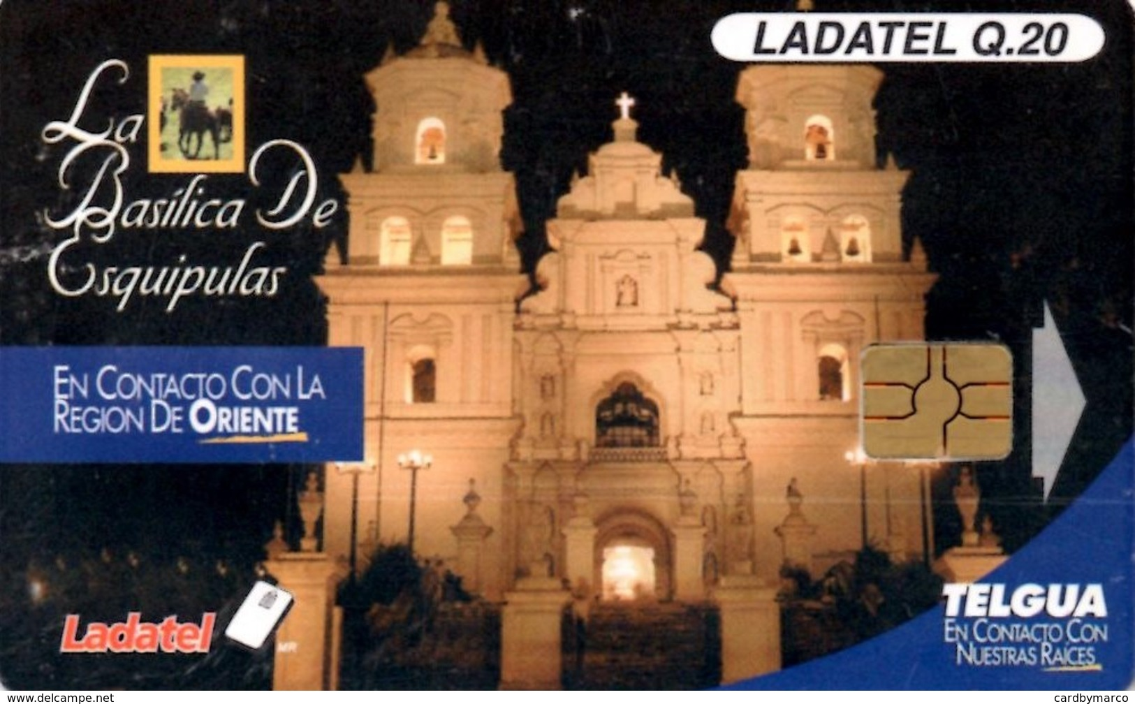 *GUATEMALA* - Scheda A Chip Usata - Guatemala