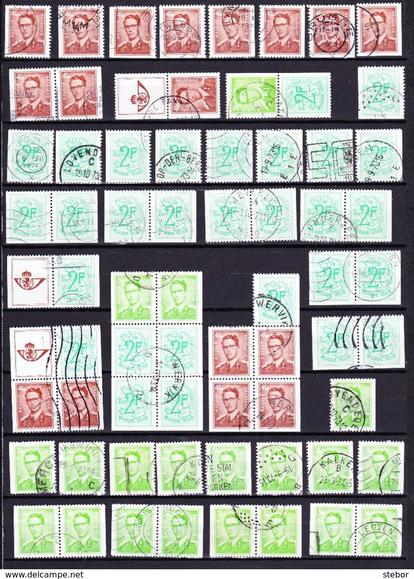 België Kleine Verzameling Postzegels Uit Boekjes G, Zeer Mooi Lot 3922 - Timbres