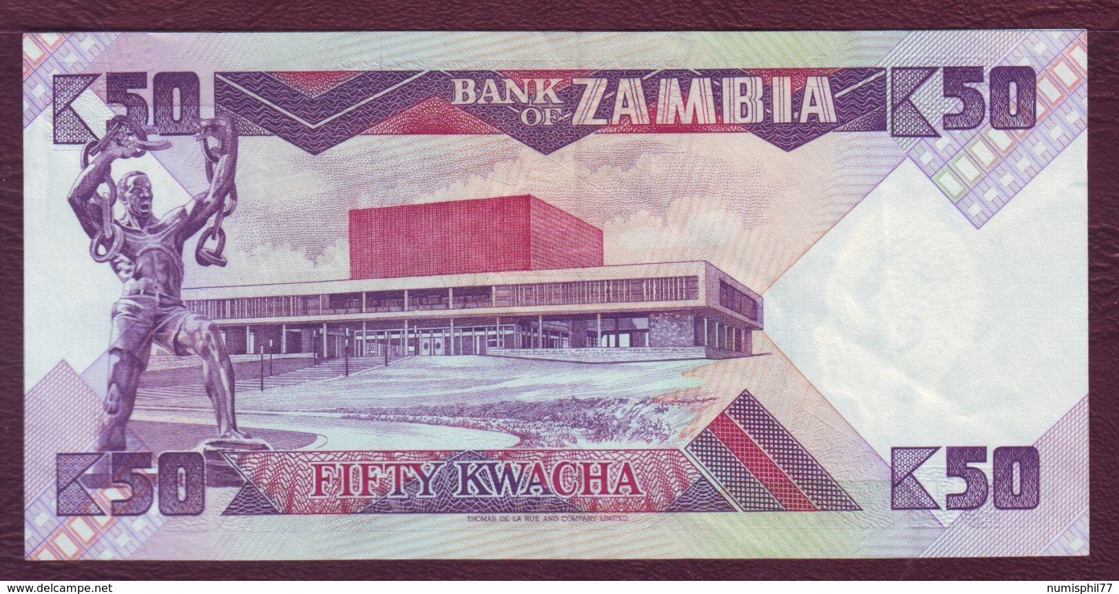 ZAMBIE - 50 KWACHA Président K. Kaunda - ND 1986/1988 - P.28a - SUP - Zambie