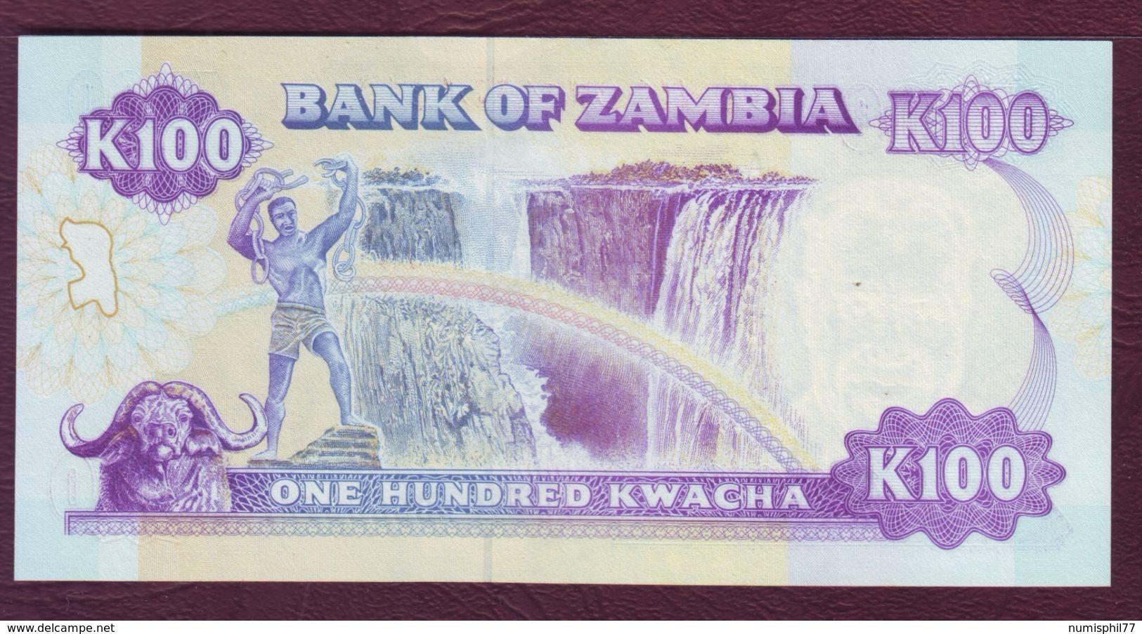 ZAMBIE - 100 KWACHA Président K. Kaunda - ND 1991 - P.34a - NEUF/UNC - Zambie