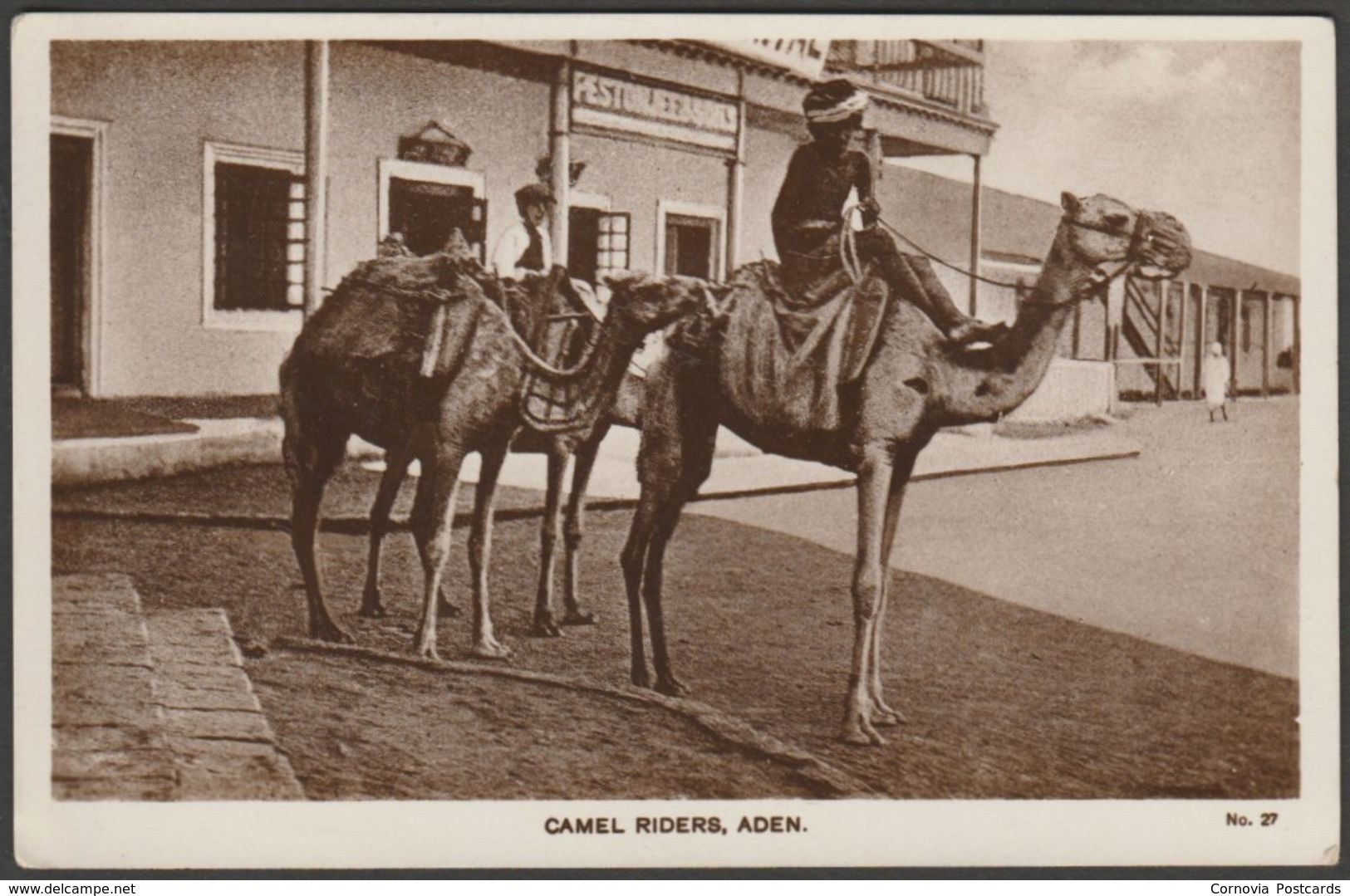 Camel Riders, Aden, C.1920s - Lehem RP Postcard - Yemen