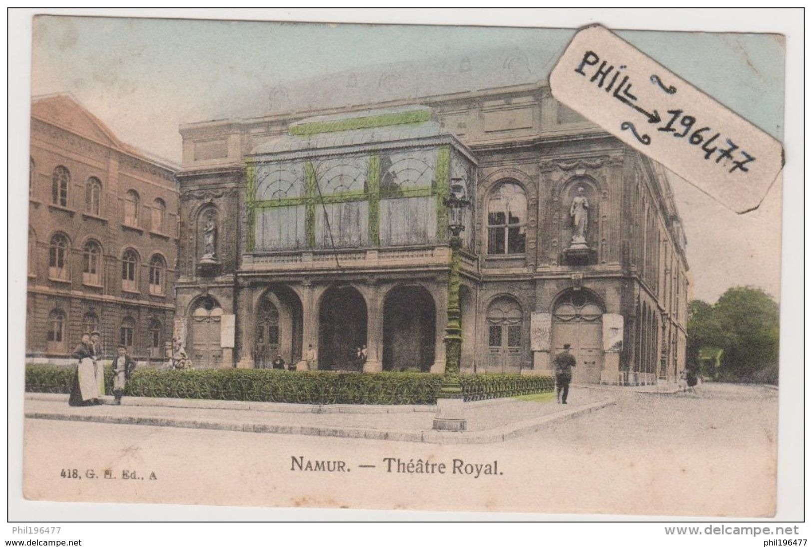 Namur - Cpa / Théâtre Royal. Circulé. - Namur