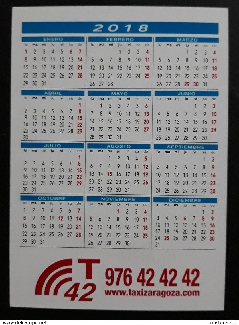2018. CALENDARIO VIRGEN DEL PILAR - RADIO TAXI - ZARAGOZA. - Calendarios