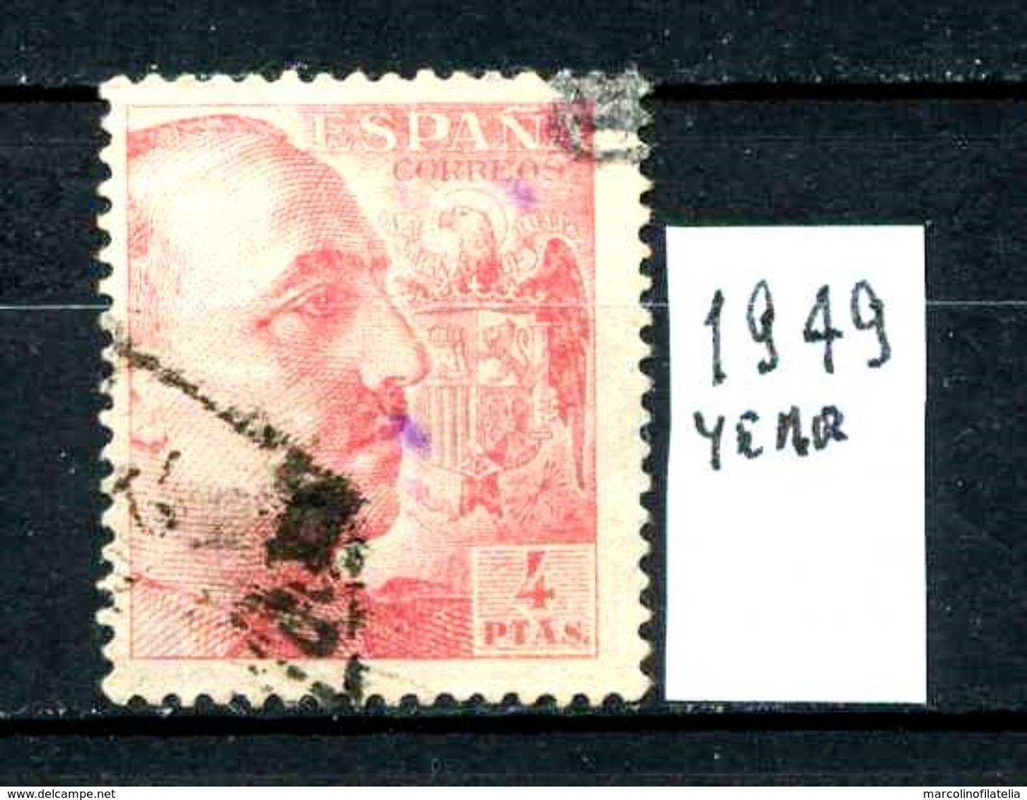 SPAGNA - Generale FRANCO - Year 1949 - Usato - Used - Utilisè -gebraucht. - 1931-50 Usati