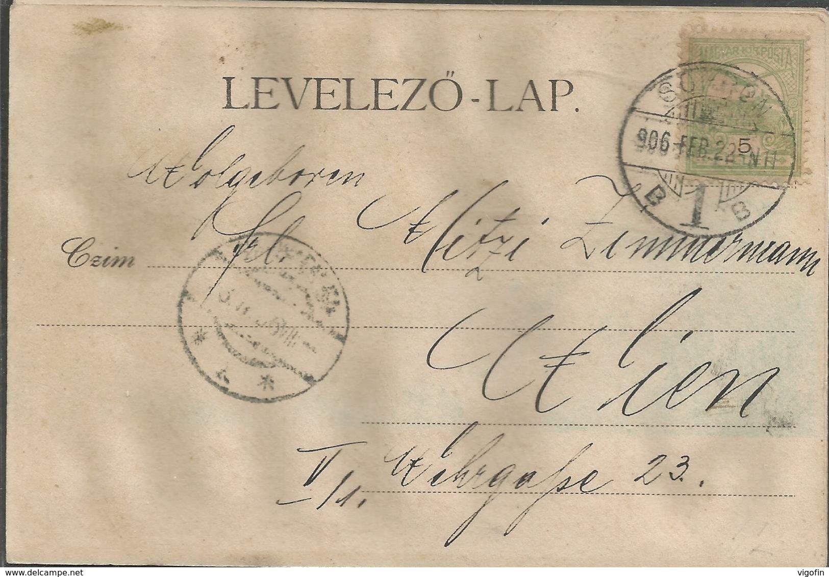 HUNGARY SOPRONBOB OEDENBURG, PC, Circulated 1906 - Ungarn