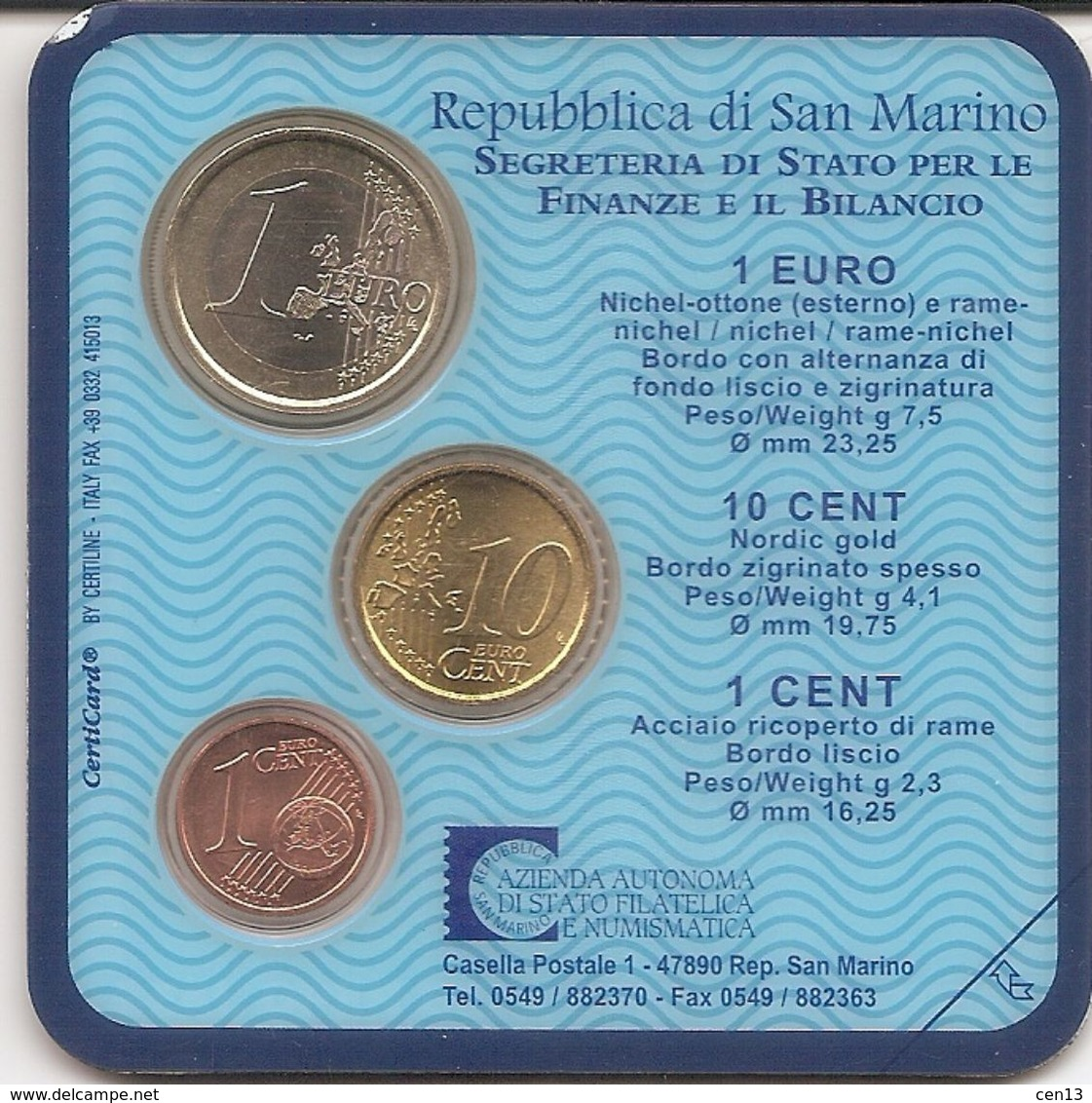 Lot De 4 Kits D'euros : 3 Minis Kits De San Marin Et De Grèce Et D'un Starter Kit D'euros Français - EURO