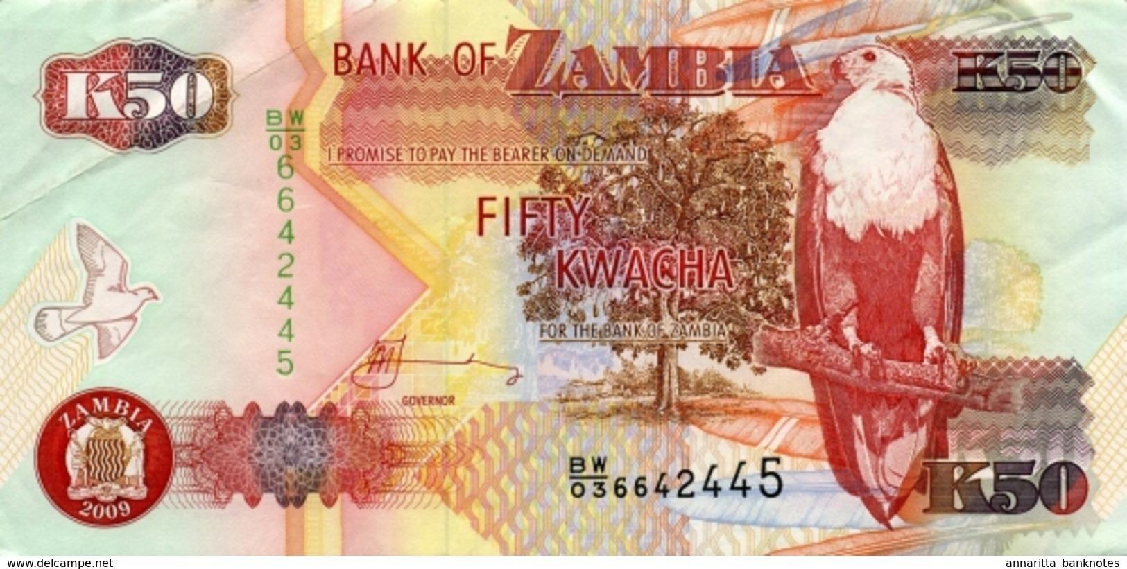 ZAMBIE 50 KWACHA 2009 P-37h NEUF [ZM138i] - Zambia