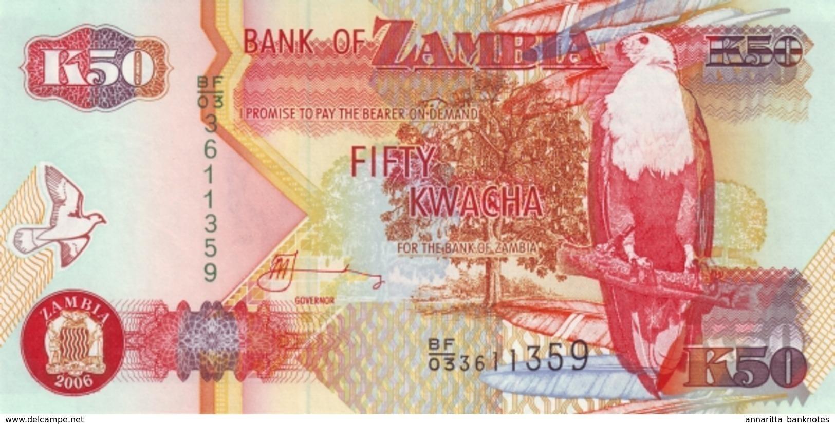 ZAMBIE 50 KWACHA 2006 P-37e NEUF [ZM138f] - Zambia