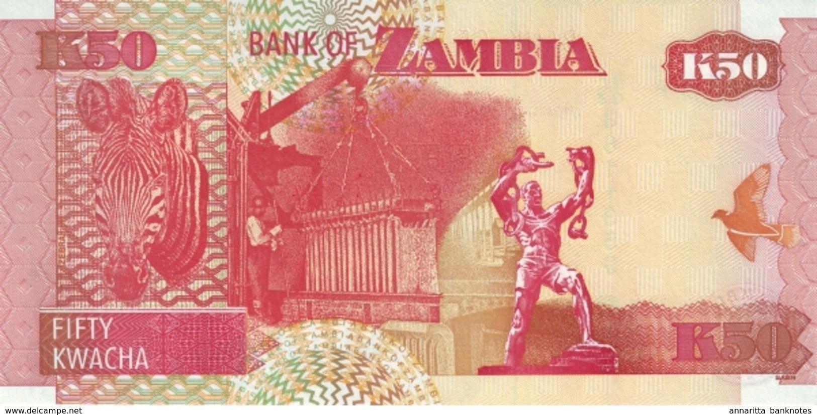 ZAMBIE 50 KWACHA 2006 P-37e NEUF [ZM138f] - Zambie