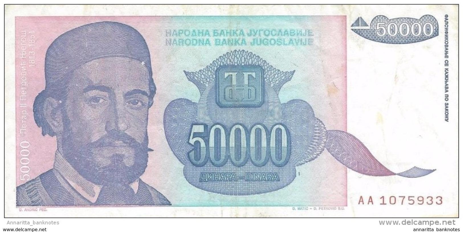YOUGOSLAVIE 5000000 DINARA 1993 P-132 SUP [YU132au] - Joegoslavië