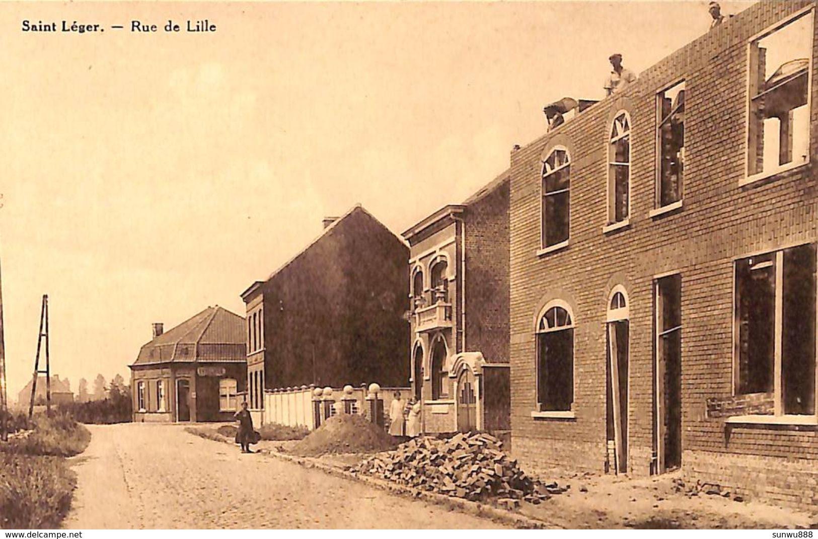 Saint Léger - Rue De Lille (avant Et Maintenant...construction) - Saint-Léger