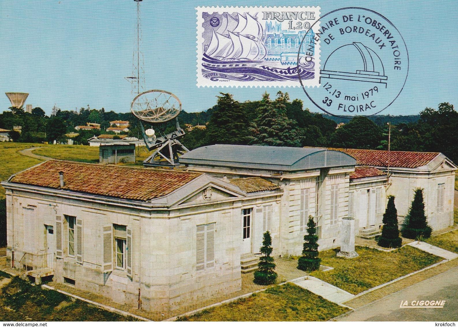 Floirac 1979 - BT Observatoire De Bordeaux - Commemorative Postmarks