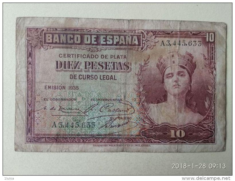 10 Pesetas 1935 - 10 Pesetas