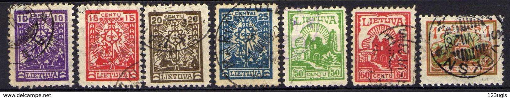 Litauen / Lietuva, 1923,  Mi 187-193, Gestempelt [280118XXII] - Lituania