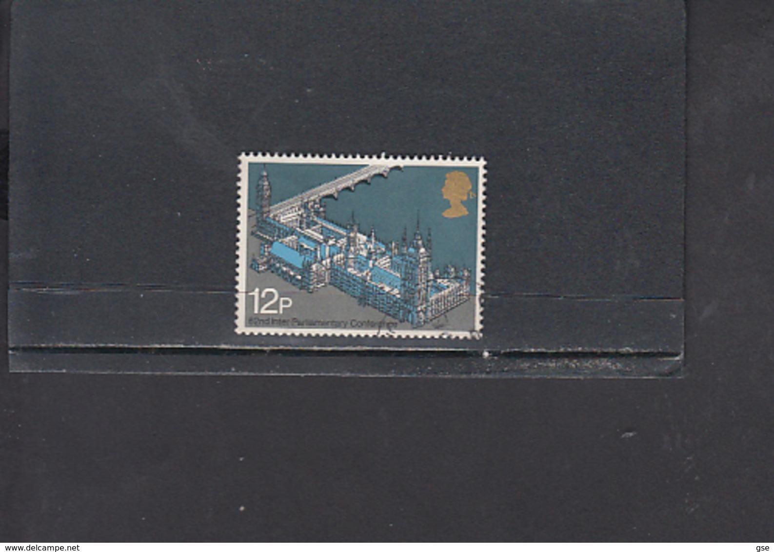 GRAN BRETAGNA  1975 - Unificato  764° - Unione Interparlamentare - 1952-.... (Elisabetta II)