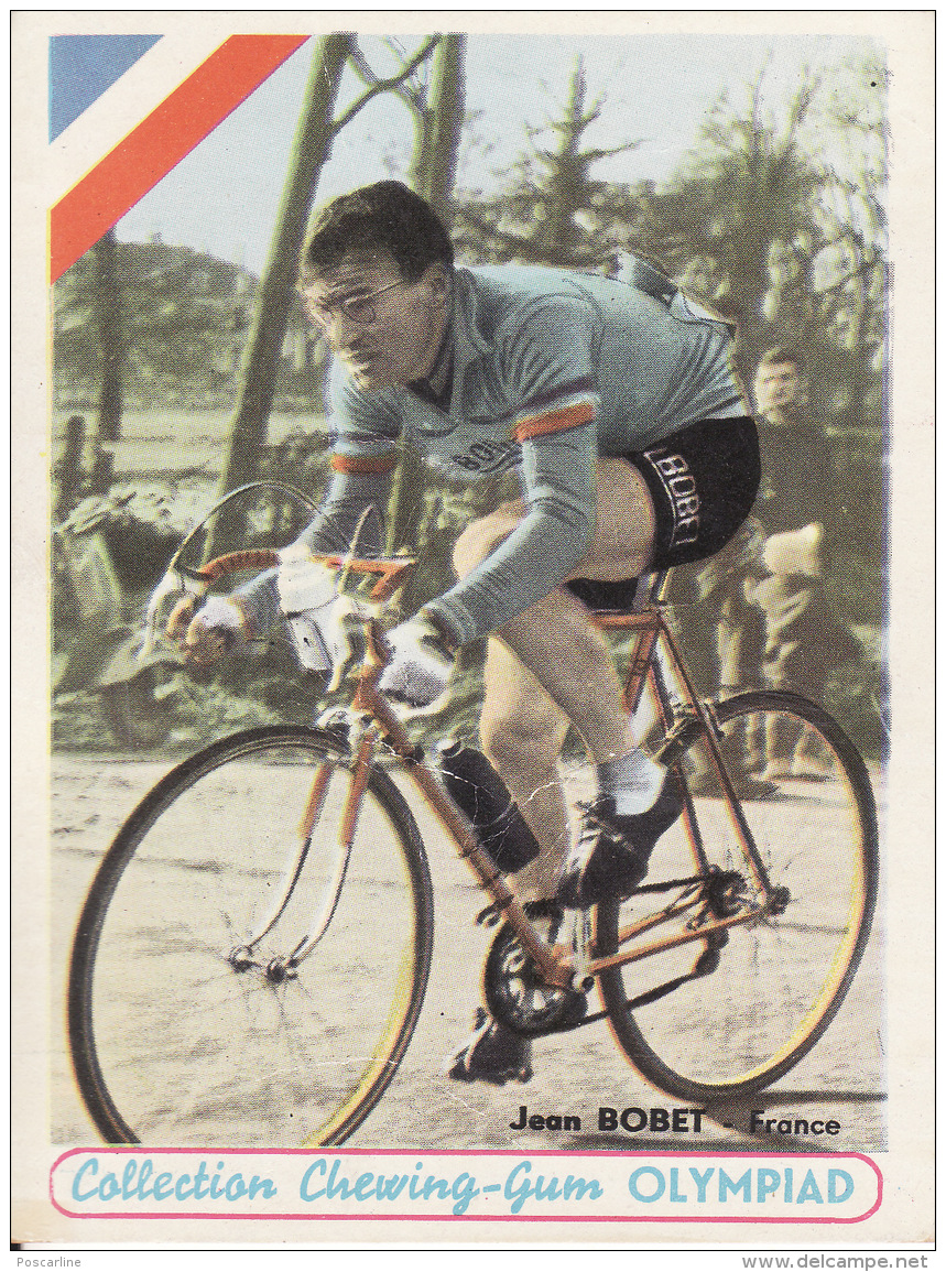 Cyclisme, Jean Bobet, Collection Chewing-gum Olympiad, 2 Scans - Cyclisme