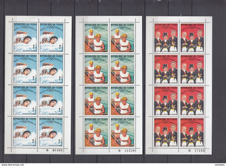 Chad 30.06.1969 Mi Klbg # 240-63 А Mexico Summer Olympics Goldmedal Winners, MNH OG - Verano 1968: México